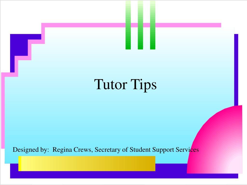 tutor tips l.