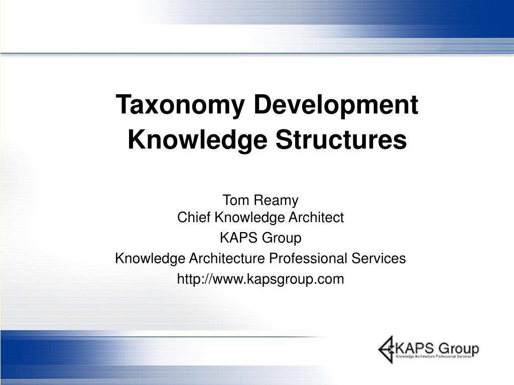 taxonomy development knowledge structures l.