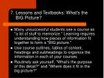 7 lessons and textbooks what s the big picture