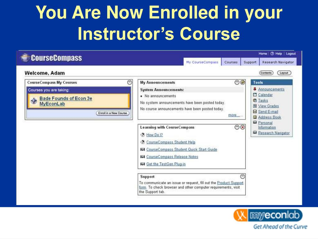 You Are Now Enrolled in your Instructor's Course