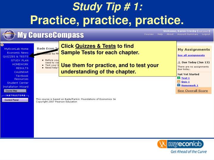 Study tip 1 practice practice practice3