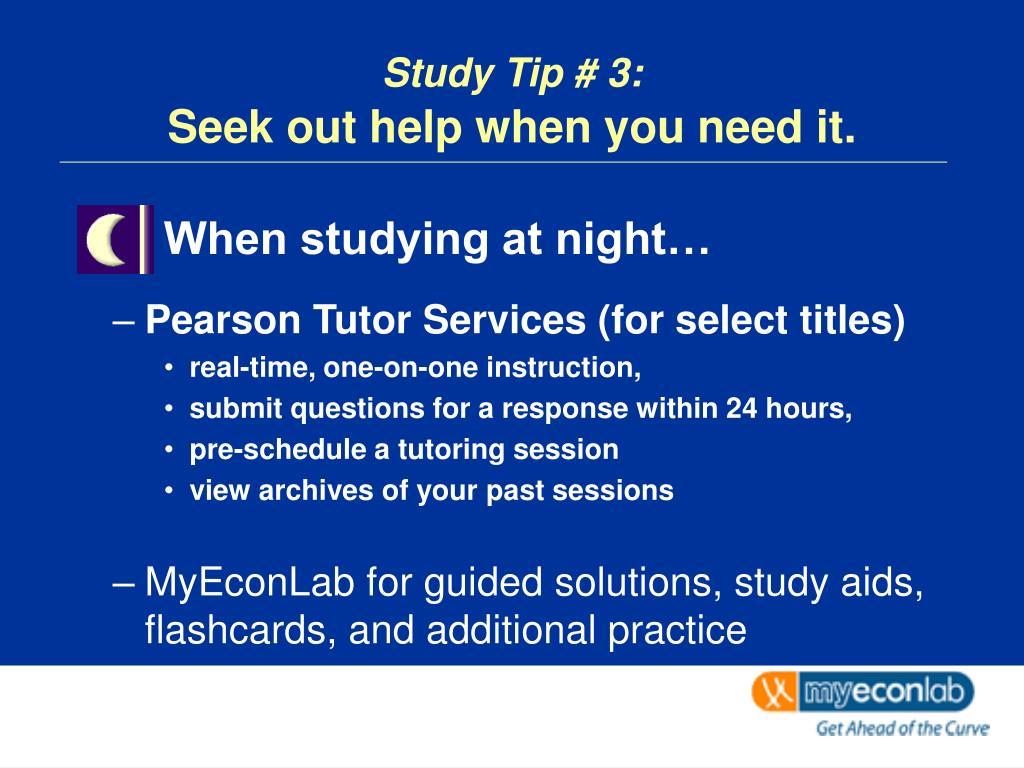 Study Tip # 3:
