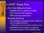 capm exam fees