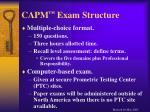 capm exam structure