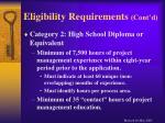 eligibility requirements cont d13