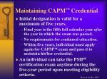 maintaining capm credential
