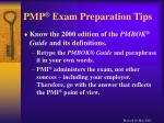 pmp exam preparation tips