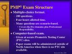 pmp exam structure