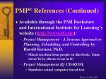 pmp references continued32