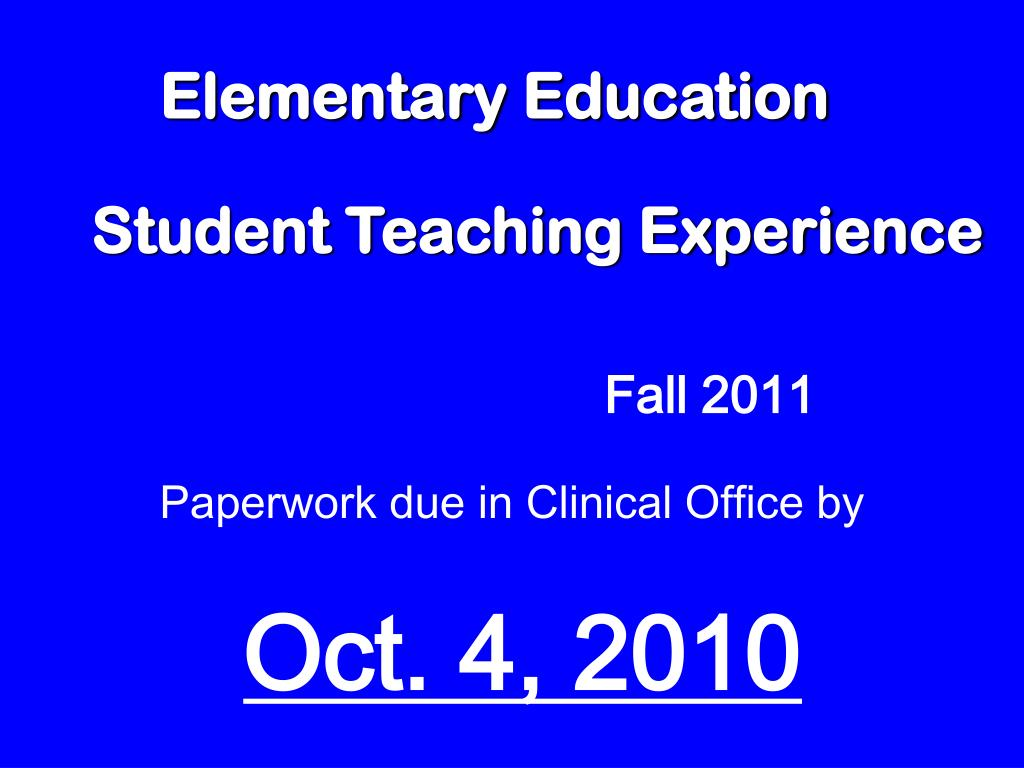 elementary education l.