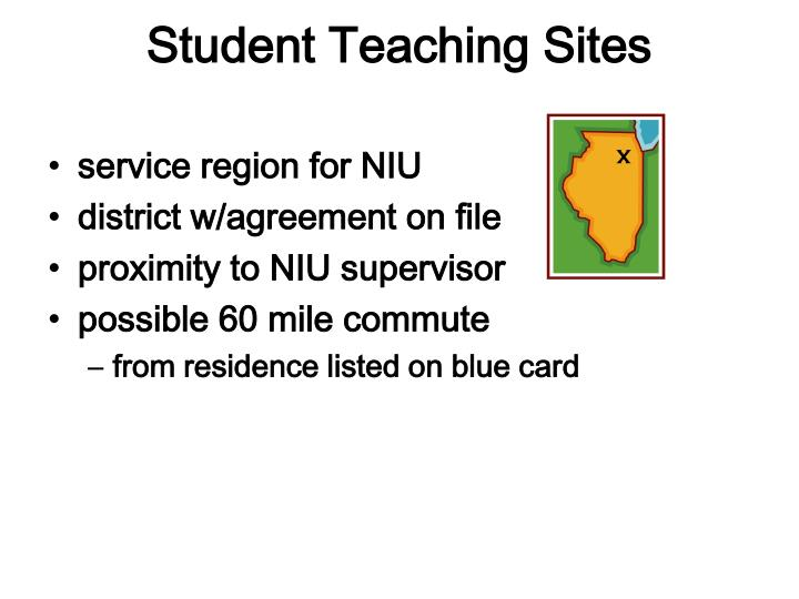 Student teaching sites
