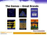 the games great brands