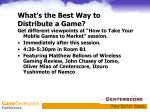 what s the best way to distribute a game