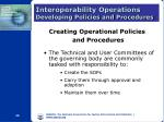 interoperability operations developing policies and procedures