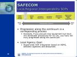 safecom local regional interoperability sops
