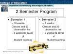 2 semester program