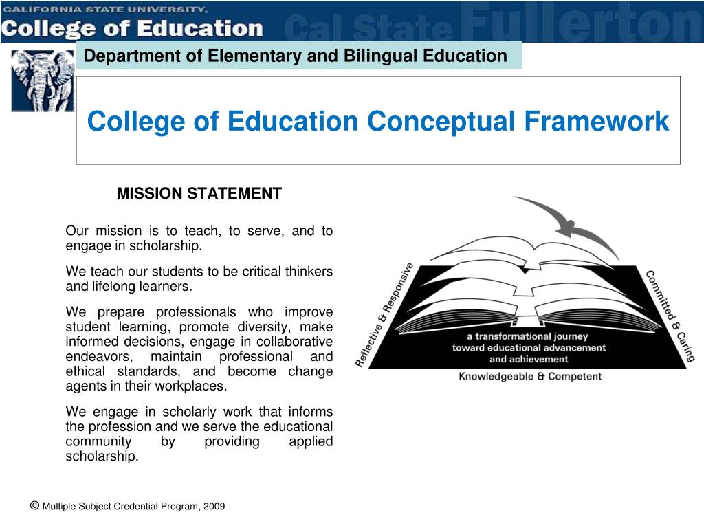 College of Education Conceptual Framework