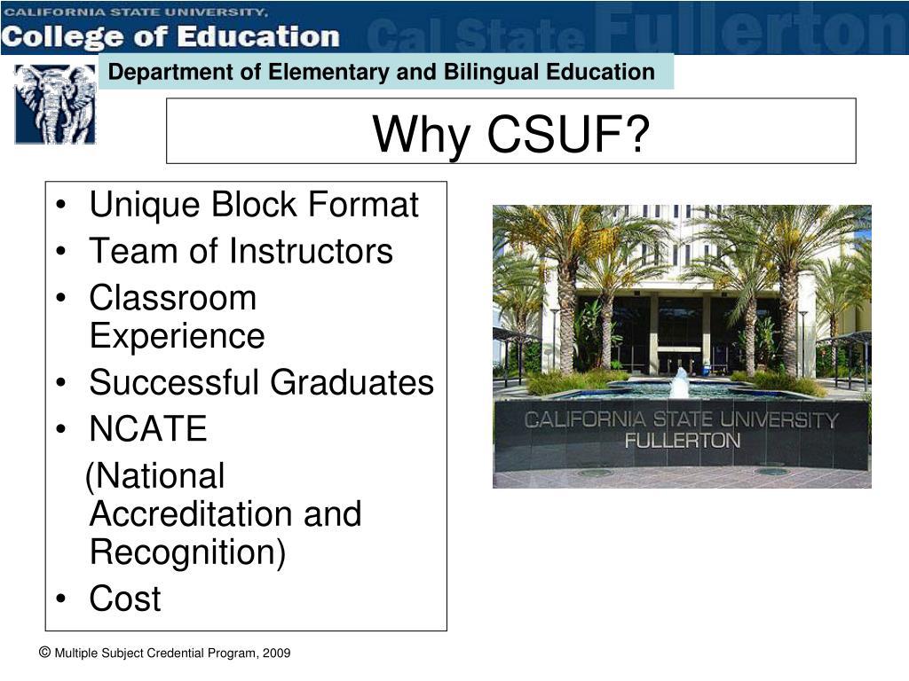 Why CSUF?