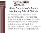 state department s role in monitoring school districts29