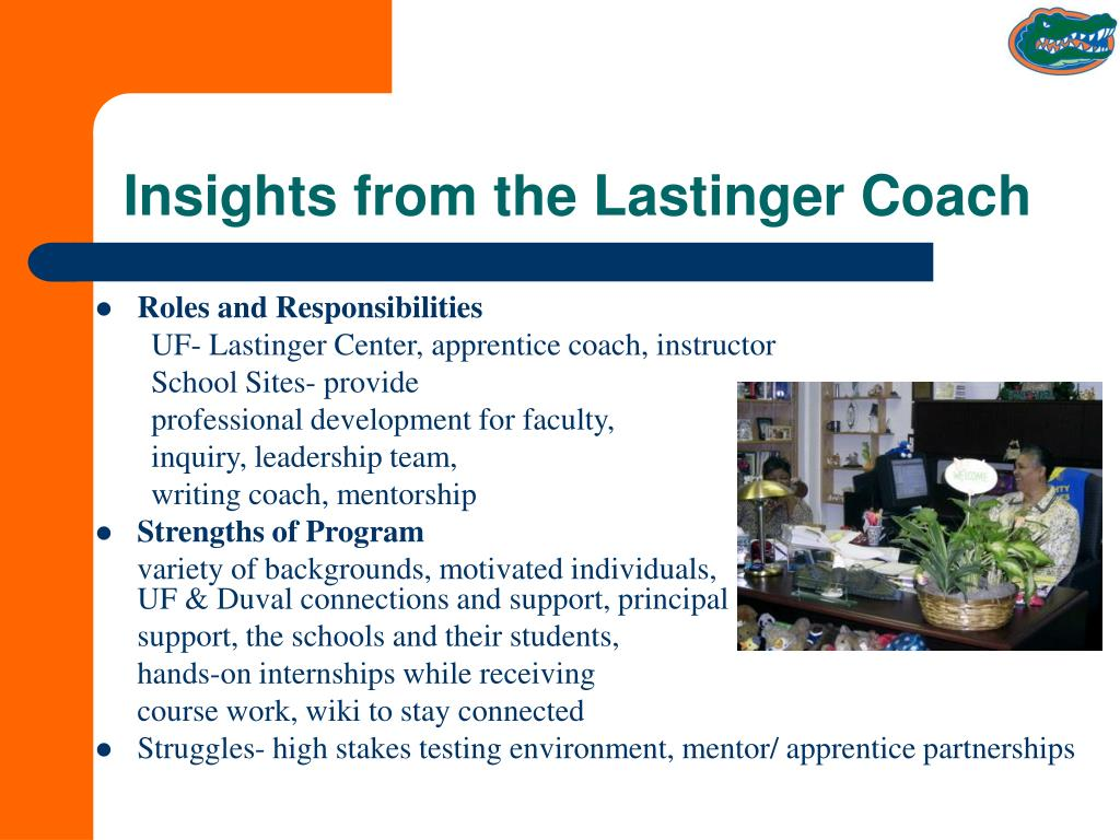Insights from the Lastinger Coach
