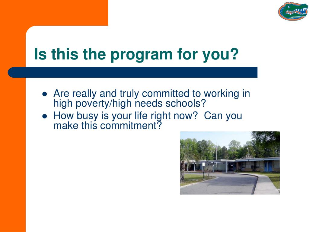 Is this the program for you?