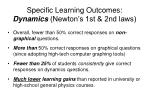 specific learning outcomes dynamics newton s 1st 2nd laws