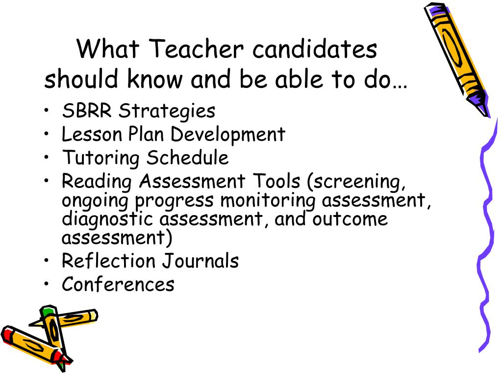 What Teacher candidates should know and be able to do…