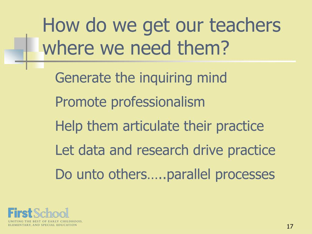 How do we get our teachers where we need them?