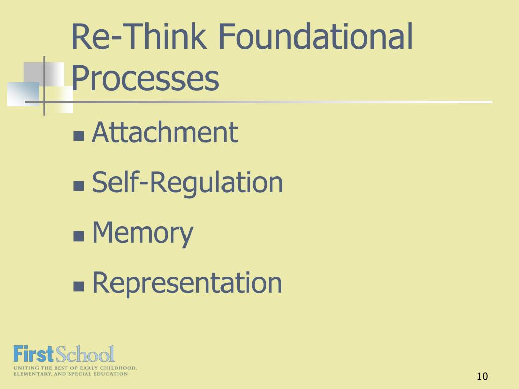 Re-Think Foundational Processes