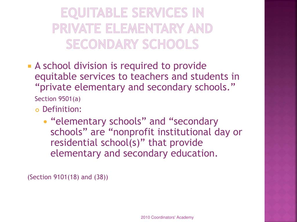 Equitable Services in