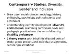 contemporary studies diversity gender and inclusion