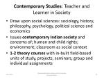 contemporary studies teacher and learner in society