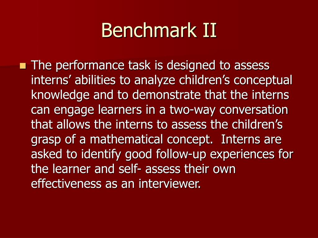 Benchmark II