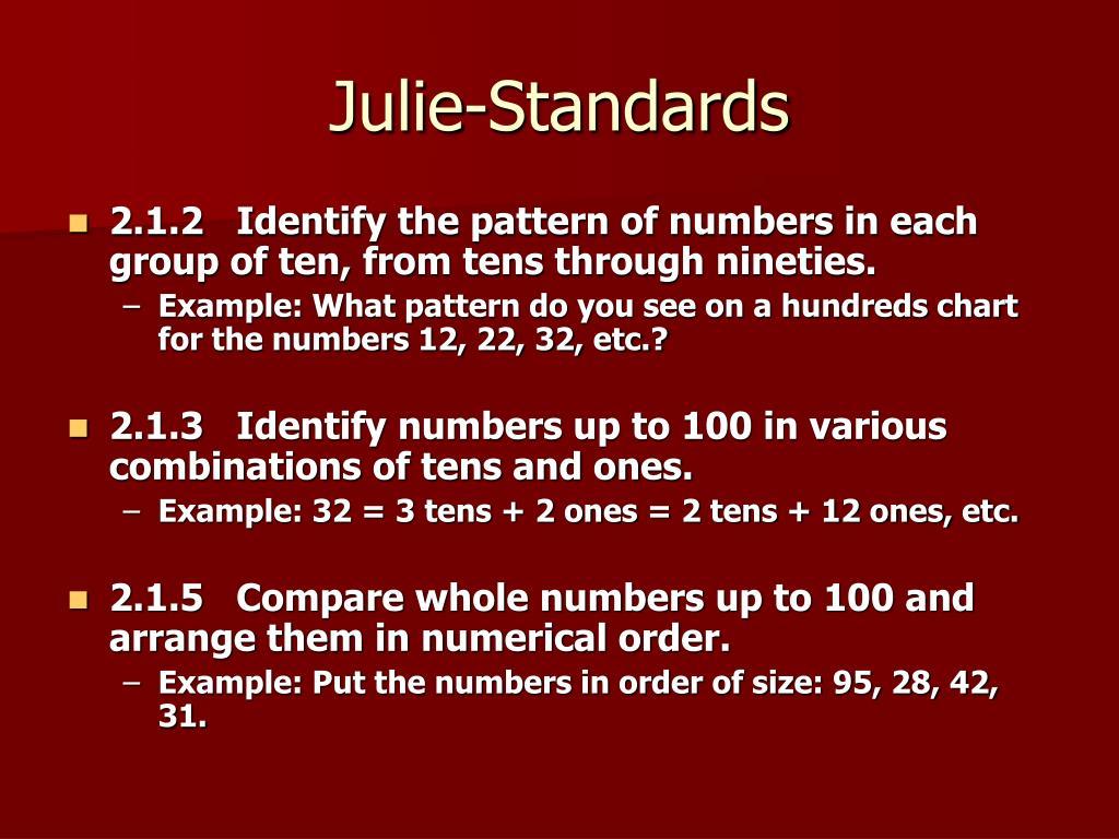 Julie-Standards