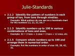 julie standards