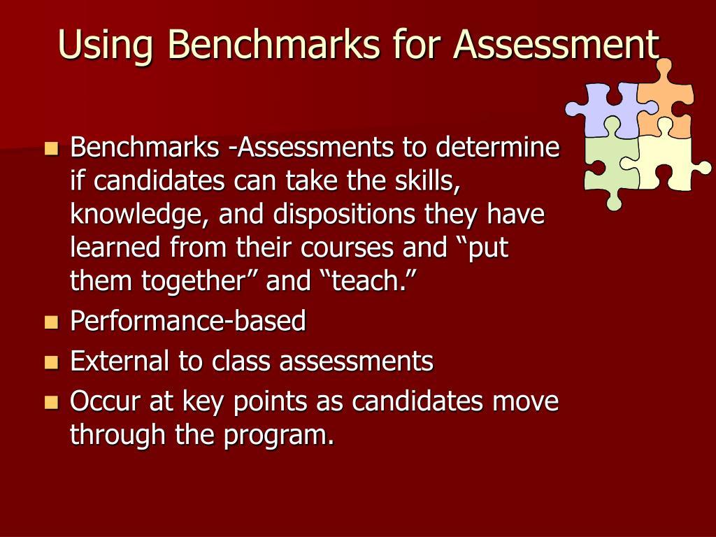 Using Benchmarks for Assessment