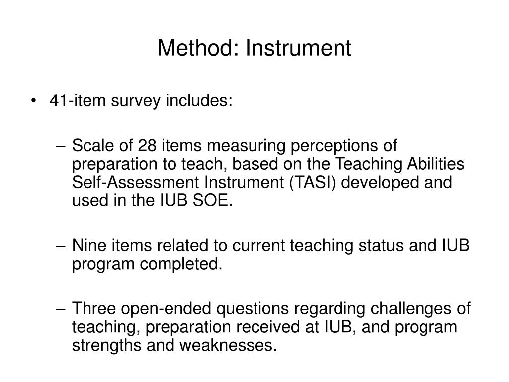 Method: Instrument