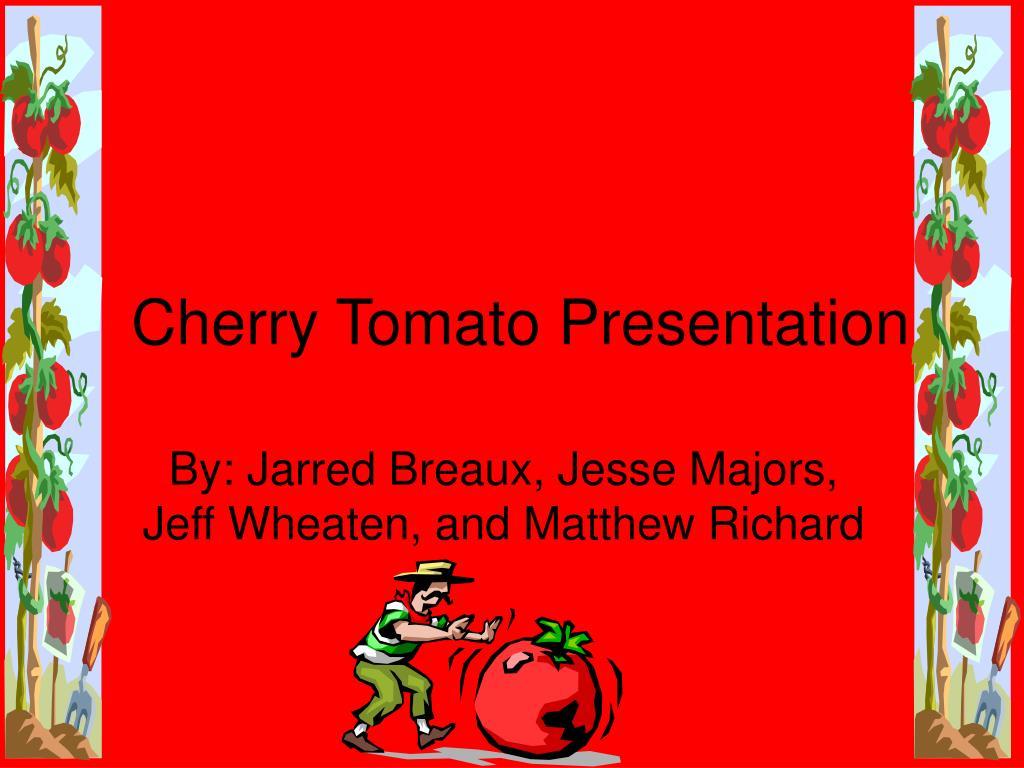 Cherry Tomato Presentation