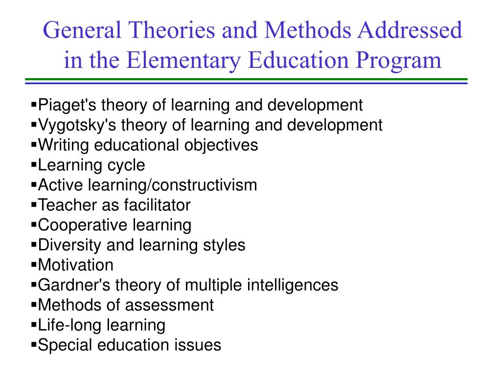 General Theories and Methods Addressed
