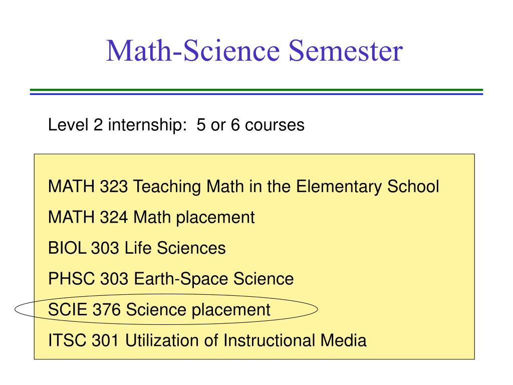 Math-Science Semester