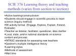 scie 376 learning theory and teaching methods varies from section to section