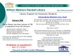 william madison randall library http library uncw edu