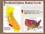 predicted indoor radon levels