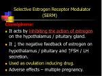 selective estrogen receptor modulator serm