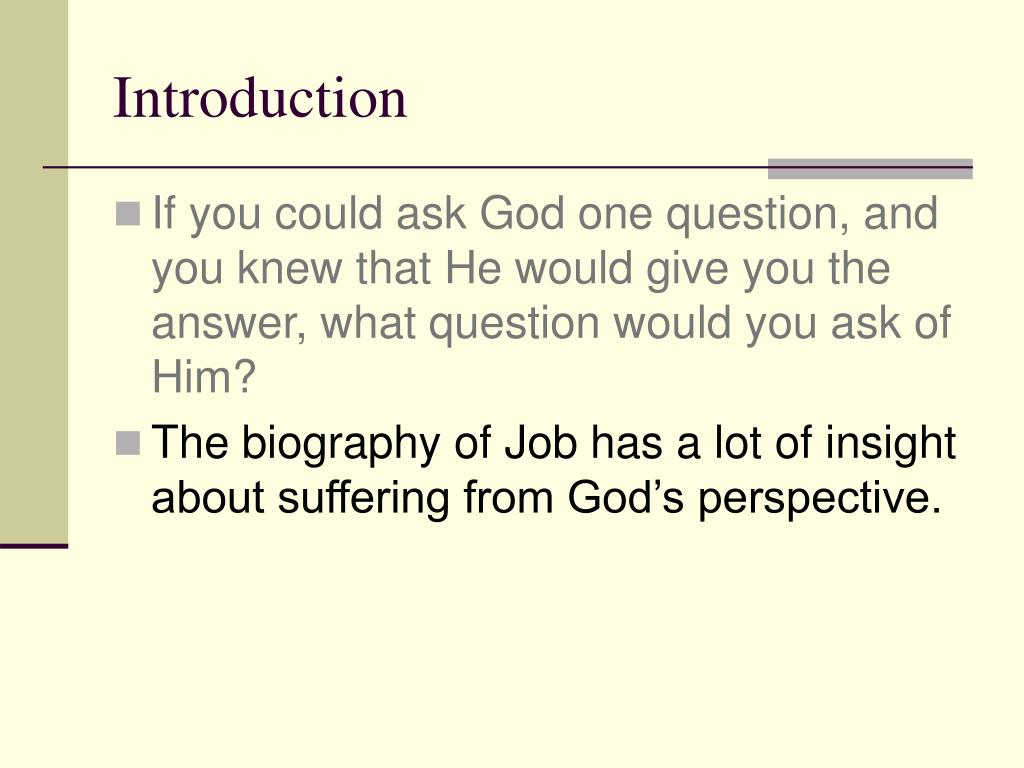PPT - Life is Hard – God Is Good A Study of Job PowerPoint
