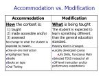 accommodation vs modification