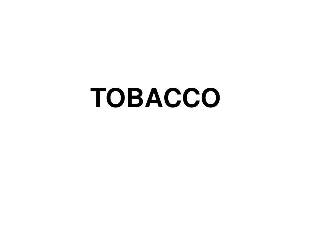tobacco l.