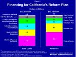 financing for california s reform plan