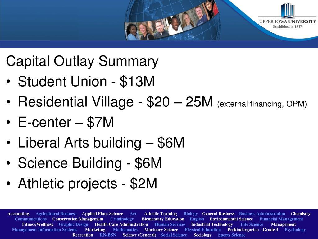 Capital Outlay Summary