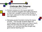 challenges met pedagogy from external evaluator s final report